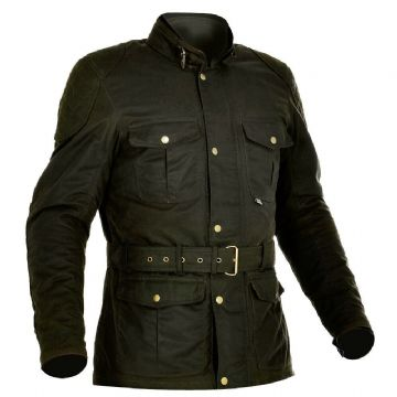 Oxford Bradwell British Millerain Waxed Textile Motorcycle Jacket - Rifle Green